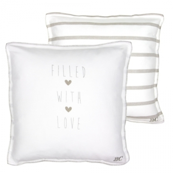 Kissen *Filled with Love* grey