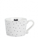 Mug white small *Little Dots & Heart* black