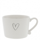 Mug white *Heart* grey