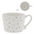 Mug white *Little Hearts-Smile* grey