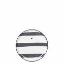 Mini Teller-Tea Tip *Stripes & heart* black