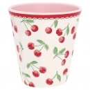 Melamin Becher *Cherry* white