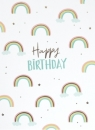 Postkarte *Happy Birthday-Regenbogen*