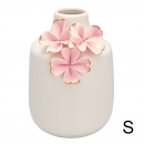Vase *Flower* pale pink w/gold