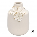 Vase *Flower* white w/gold