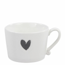 Mug white *Heart black*